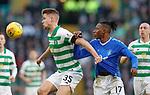 29.12.2019 Celtic v Rangers: Krtistoffer Ajer and Joe Aribo