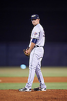 Lakeland Flying Tigers relief pitcher Gage Smith (19) gets ready to deliver a pitch during a game against the Tampa Yankees on April 8, 2016 at George M. Steinbrenner Field in Tampa, Florida.  Tampa defeated Lakeland 7-1.  (Mike Janes/Four Seam Images)