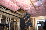 Installing insulation in new home