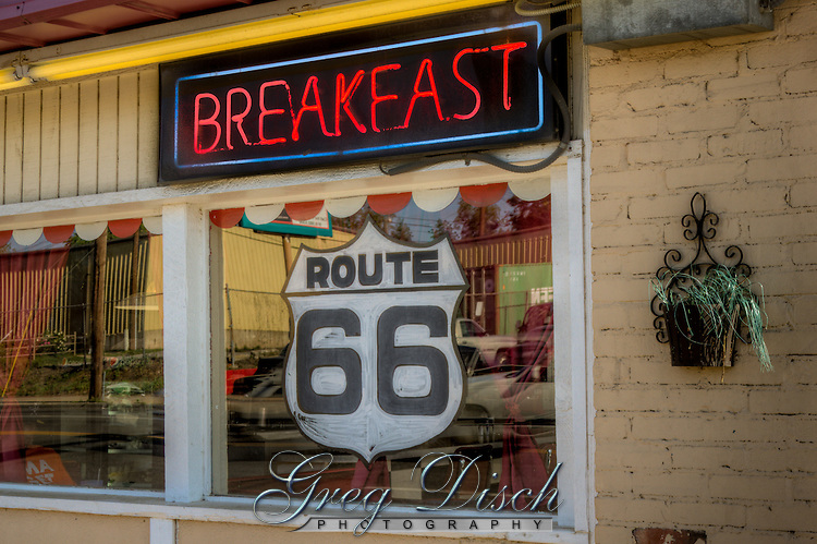 The Corner Cafe on Route 66 in Tulsa Oklahoma.