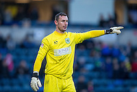 Goalkeeper Artur Krysiak of Yeovil Town during the Sky Bet League 2 match between Wycombe Wanderers and Yeovil Town at Adams Park, High Wycombe, England on 14 January 2017. Photo by Andy Rowland / PRiME Media Images.