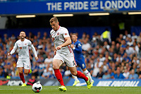 Jack O'Connell of Sheffield United during the Premier League match between Chelsea and Sheff United at Stamford Bridge, London, England on 31 August 2019. Photo by Carlton Myrie / PRiME Media Images.