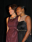 """Countess LuAnn de Lesseps  & Deb Koenigsberger at The Fourteenth Annual Hearts of Gold Gala """"Hooray for Hollywood!"""" - with its mission to foster sustainable change in lifestyle and levels of self-sufficiency for homeless mothers and their children on October 28, 2010 at the Metropolitan Pavillion, New York City, New York. (Photo by Sue Coflin/Max Photos)"""