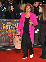 """LONDON, ENGLAND - OCTOBER 08: Nadia Sawalha at the BFI London Film Festival """"Knives Out"""" American Express gala, Odeon Luxe Leicester Square, Leicester Square on Tuesday 08 October 2019 in London, England, UK. <br /> CAP/CAN<br /> ©CAN/Capital Pictures"""