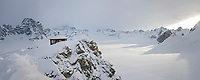 Don Sheldon mountain house in the Ruth Amphitheater, Interior, Alaska.