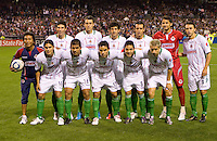 CD Chivas de Guadalajara starting eleven.  Chivas USA and CD Chivas de Guadalajara played to 0-0 draw at Petco Park stadium in San Diego, California on Tuesday September 14, 2010.