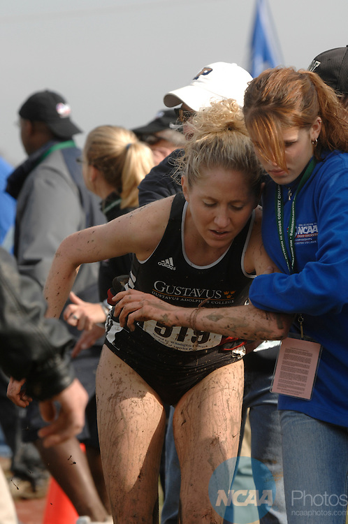 18 NOV 2006: The Women's Division III Cross Country Championship was held at the Voice of America Park in West Chester, OH.  Stephen Nowland/NCAA Photos