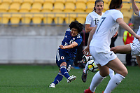 Japan&rsquo;s Mana Iwabuchi in action during the  International Football - Football Ferns v Japan  at Westpac Stadium, Wellington, New Zealand on Sunday 10 June 2018.<br /> Photo by Masanori Udagawa. <br /> www.photowellington.photoshelter.com