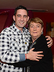 Pat Donaghy celebrating her 70th birthday in Tommy Hanratty's with friend Anthony Gorman. Photo:Colin Bell/pressphotos.ie