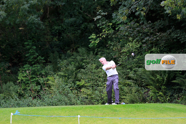 Michael Sinclair (Knock) in the final of the AIG Senior Cup at the AIG Cups &amp; Shields National Finals, Carton House, Maynooth, Co Kildare.<br /> Picture Golffile | Fran Caffrey