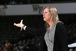 28 January 2016: Wake Forest head coach Jen Hoover. The Wake Forest University Demon Deacons hosted the Florida State University Seminoles at Lawrence Joel Veterans Memorial Coliseum in Winston-Salem, North Carolina in a 2015-16 NCAA Division I Women's Basketball game. Florida State won the game 96-55.