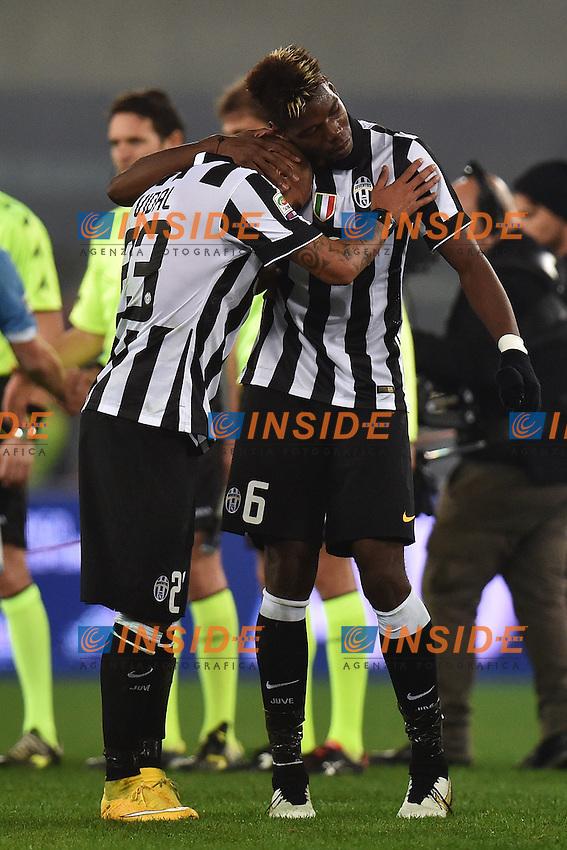 Arturo Vidal, Paul Pogba Juventus <br /> Roma 22-11-2014 Stadio Olimpico, Football Calcio Serie A . Lazio - Juventus. Foto Andrea Staccioli / Insidefoto