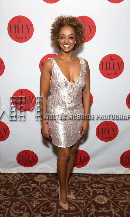 Asmeret Ghebremichael attends The Lilly Awards Broadway Cabaret at the Cutting Room on October 17, 2016 in New York City.