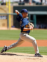 Wade Leblanc  - San Diego Padres - 2009 spring training.Photo by:  Bill Mitchell/Four Seam Images