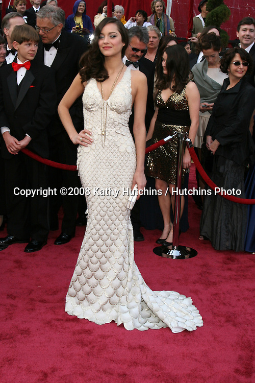 Marion Cotillard.80th Academy Awards ( Oscars).Kodak Theater.Los Angeles, CA.February 24, 2008.©2008 Kathy Hutchins / Hutchins Photo.