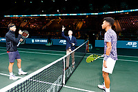 Rotterdam, The Netherlands, 12 Februari 2020, Grigor Dimitrov (BUL), Felix Auger-Aliassime (CAN). Photo: www.tennisimages.com