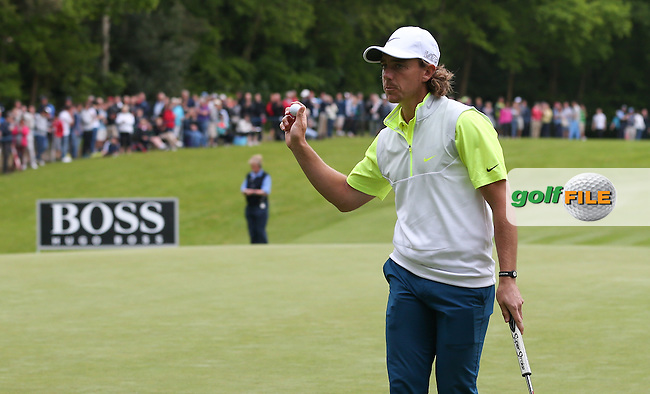 Tommy Fleetwood (ENG) shoots a 65 during Round Three of the 2015 BMW PGA Championship over the West Course at Wentworth, Virginia Water, London. 23/05/2015. Picture David Lloyd | www.golffile.ie.
