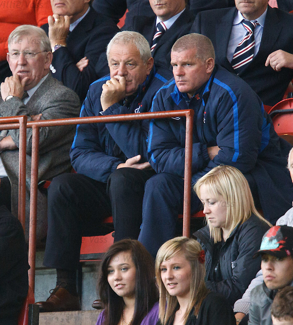 Walter Smith with Ian Durrant wondering how to spend the extra £2.5m windfall after Celtic were eliminated from the Champions league
