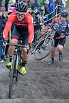 London UK 13th January 2019 British Cyclo Cross National Championships at Cyclo Park Gravesend Kent UK Action during the Elite Mens Race
