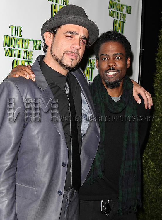 Bobby Cannavale & Chris Rock.attending the Broadway Opening Night Performance After Party for 'The Mother F**ker with the Hat'  in New York City.