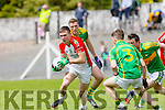 Kilcummin's Chris O'Leary puts the South Kerry Aidan O'Sullivan Defence on the back foot  at The Garvey's SuperValu Senior County Championship round 1 Kilcummin V South Kerry at Kilcummin GAA ground on Sunday
