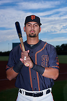 AZL Giants Black third baseman Carter Aldrete (7) poses for a photo before an Arizona League game against the AZL Giants Orange on July 19, 2019 at the San Francisco Giants Baseball Complex in Scottsdale, Arizona. The AZL Giants Black defeated the AZL Giants Orange 8-5. (Zachary Lucy/Four Seam Images)