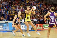 Jodi Brown in action during the ANZ Championship - Mojo Pulse v Queensland Firebirds at Te Rauparaha Arena, Porirua, New Zealand on Sunday 8 March 2015. <br /> Photo by Masanori Udagawa. <br /> www.photowellington.photoshelter.com.