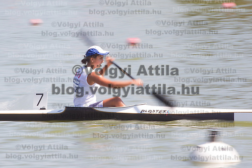 Ekaterina Shaburishvili from Georgia competes in the K1 women kayak 1000m preliminary during the 2011 ICF World Canoe Sprint Championships held in Szeged, Hungary. Thursday, 18. August 2011. ATTILA VOLGYI