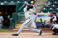 Erik Harbutz #38 of the Wichita State Shockers swings at a pitch during a game against the Missouri State Bears at Hammons Field on May 5, 2013 in Springfield, Missouri. (David Welker/Four Seam Images)