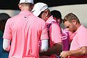 Pink is the order of the day during the second round of the Omega Dubai Desert Classic  played at Emirates Golf Club in Dubai, UAE.<br /> 26/01/2018.<br /> Picture: Golffile | Phil Inglis<br /> <br /> <br /> All photo usage must carry mandatory copyright credit (&copy; Golffile | Phil Inglis)