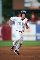 Kane County Cougars first baseman Marty Herum (14) running the bases during a game against the Great Lakes Loons on August 13, 2015 at Fifth Third Bank Ballpark in Geneva, Illinois.  Great Lakes defeated Kane County 7-3.  (Mike Janes/Four Seam Images)