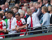 Arsene Wenger Arsenal manager waves to the crowd after winning the FA Cup during the FA Cup Final match between Arsenal v Chelsea, Wembley stadium, London on 27th May 2017