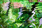 Colorful abstract of reflection in pond