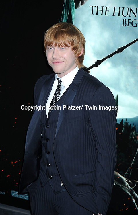 "Rupert Grint attending The New York Premiere of .""Harry Potter and the Deathly Hallows-Part 1"" on November 15, 2010 at Alice Tully Hall"