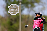 Jaravee Boonchant (THA) on the 9th tee during the second round of the Augusta National Womans Amateur 2019, Champions Retreat, Augusta, Georgia, USA. 04/04/2019.<br /> Picture Fran Caffrey / Golffile.ie<br /> <br /> All photo usage must carry mandatory copyright credit (&copy; Golffile | Fran Caffrey)