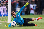 Goalkeeper Bernd Leno of Bayer 04 Leverkusen in training prior to the 2016-17 UEFA Champions League Round of 16 second leg match between Atletico de Madrid and Bayer 04 Leverkusen at the Estadio Vicente Calderon on 15 March 2017 in Madrid, Spain. Photo by Diego Gonzalez Souto / Power Sport Images