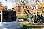 The Color Guard at the 77th Memorial Grave at Ft. Totten.