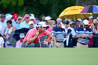Paul Casey (GBR) lines up his putt on 4 during Friday's round 2 of the PGA Championship at the Quail Hollow Club in Charlotte, North Carolina. 8/11/2017.<br /> Picture: Golffile | Ken Murray<br /> <br /> <br /> All photo usage must carry mandatory copyright credit (&copy; Golffile | Ken Murray)