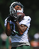 Deshon Foxx #86 makes a catch during New York Jets Training Camp at the Atlantic Health Jets Training Center in Florham Park, NJ on Thursday, Aug. 10, 2017.