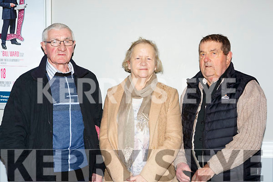 Paul Paddy O'Sullivan, Eileen and Peter Hanley Kenmare  at Pat Short new comedy show 'Hows Tings' in the INEC on Friday night