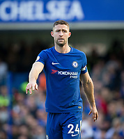 Gary Cahill of Chelsea during the Premier League match between Chelsea and Watford at Stamford Bridge, London, England on 21 October 2017. Photo by Andy Rowland.