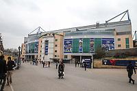LONDRES, INGLATERRA, 25 MARÇO 2013 - AMISTOSO INTERNACIONAL - BRASIL X RUSSIA - Vista do Estádio Stamford Bridge, estádio do Chelsea em Londres capital da Inglaterra, onde logo mais o Brasil enfrenta a Rússia, em amistoso internacional. (FOTO: GUILHERME ALMEIDA / BRAZIL PHOTO PRESS)..
