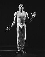 Bill T Jones, dancing in Rivoli theater in Porto, Portugal, in 2001.