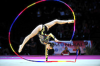 September 23, 2011; Montpellier, France;  ALEXANDRA PISCUPESCU of Romania performs with ribbon at 2011 World Championships.