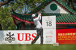Lu Wei-chich from Taiwan hits the ball during Hong Kong Open golf tournament at the Fanling golf course on 22 October 2015 in Hong Kong, China. Photo by Xaume Olleros / Power Sport Images