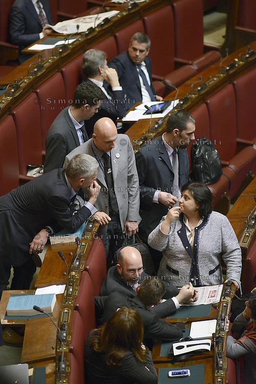 Roma, 18 Aprile 2013.Camera dei Deputati.Votazione del Presidente della Repubblica a camere riunite.Deputati e Senatori del Movimento 5 Stelle..Vito Crimi