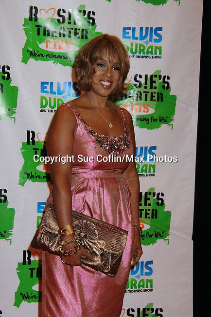 Gayle King at Rosie's Building Dreams for Kids Gala benefitting Rosie's Theater Kids on September 19, 2011 at New York Marriott Marquis, New York City, New York. (Photo by Sue Coflin/Max Photos)