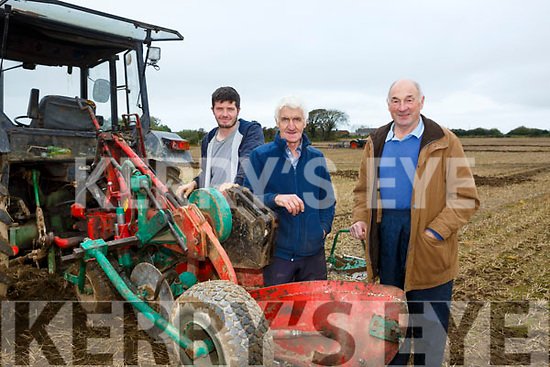 At the Abbeydorney Ploughing Match on Sunday were Michael Donegan (Causeway), Jimmy Donegan and George Nagal
