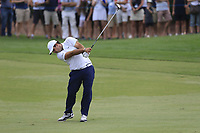 Patrick Reed (USA) on the 18th fairway during the 3rd round of the DP World Tour Championship, Jumeirah Golf Estates, Dubai, United Arab Emirates. 17/11/2018<br /> Picture: Golffile | Fran Caffrey<br /> <br /> <br /> All photo usage must carry mandatory copyright credit (© Golffile | Fran Caffrey)