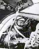 Astronaut John H. Glenn, Jr., undergoes a simulated orbital flight as part of his training for Project Mercury in the Manned Spacecraft Center's procedure trainer at Langley Air Force Base, Virginia on November 29, 1961..Credit: NASA via CNP